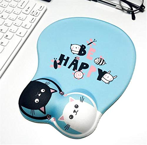 NAXIAOTIAO Cartoonsmouse Pad, Silikon-Handgelenk-Pad Gaming Mouse Pad, Anti-Rutsch-Silikon-Mauspad Mit Handgelenkauflage, Ergonomische Handgelenkauflage,Blau,260 * 215 * 30(mm)