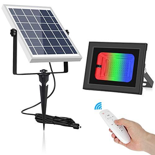 Foco solar con mando a distancia para exteriores e interiores, 1000 lúmenes,...