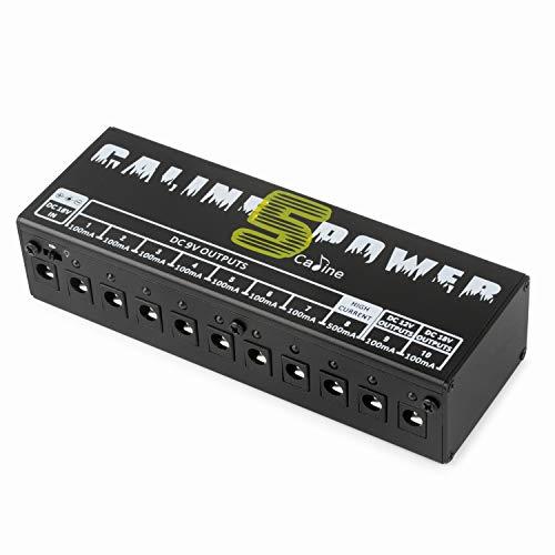 Caline CP-05 Guitar Pedal Board Power Supply 10 Output 9V 12V 18V Effect Pedals