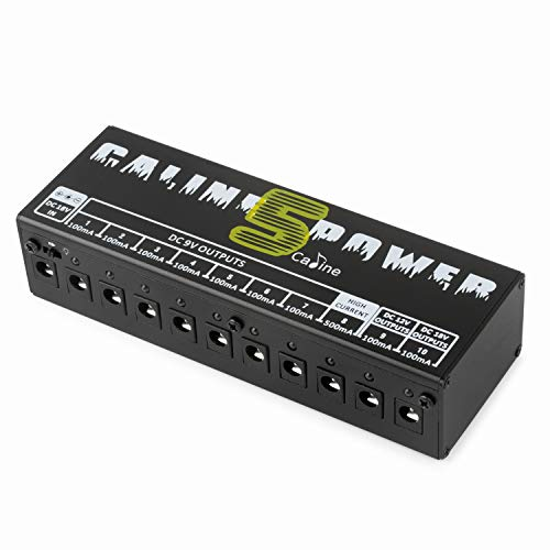Caline CP-05 Guitar Pedal Board Power Supply 10 Output 9V 12V 18V Effect Pedals with Short Circuit/Overcurrent Protection (CP-05)