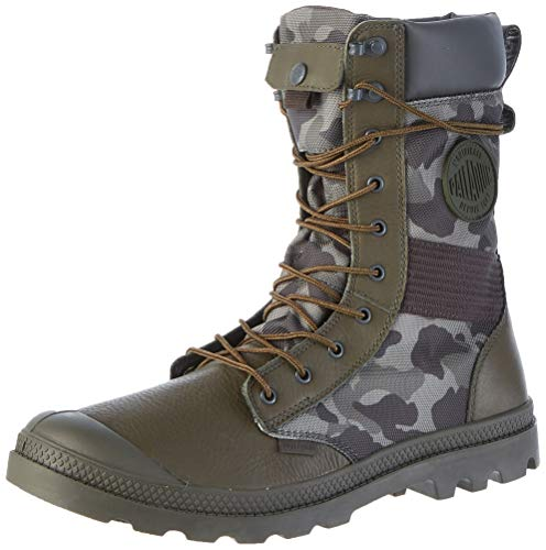 Palladium Tactical Ops Camo WP, Stiefel & Stiefel, weich, Grün - Olive Night K78 - Größe: 45 EU