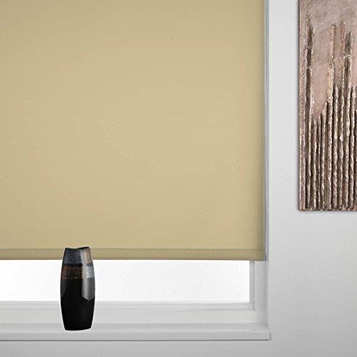Sunlover Rollo Straight Edge - Einfarbig - Sandfarben - B 120 cm