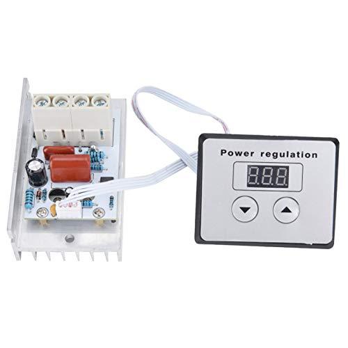 T opiky Controlador SCR con Panel, regulador de Voltaje Digital SCR de 10000 W, regulador de Velocidad, termostato para Motores de 220 V, Estufas eléctricas, Calentadores de Agua, lámpara
