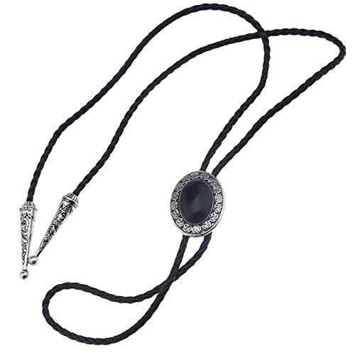 OTOTEC Western Tie Bolo - Corbata de vaquero para hombre (2 tipos), Black Stone
