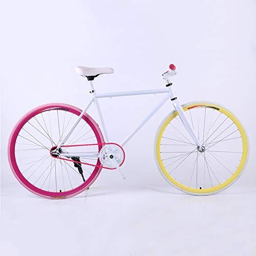 24/26 Inch Light - Fixed Gear Bike, Single Speed Fixie Fiets, High Carbon Steel frame en vork, voor mannen en vrouwen, studenten