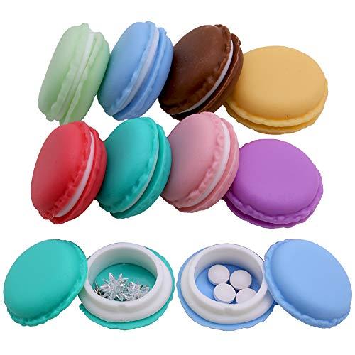 Mini Pill Case,8pcs Macaron Jewelry Boxes Portable Travel Pill Boxes Jewelry Case Kids Party Favor Boxes