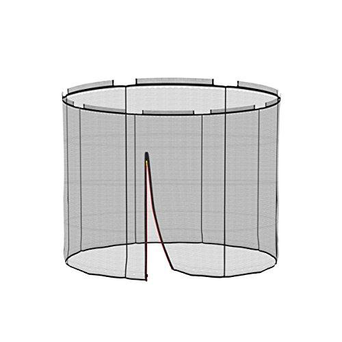 Ampel 24, Rete di Sicurezza Deluxe per Tappeto Elastico da 2,445m e 6 Pali | Pali Non Inclusi | Resistente ai Raggi UV | Rete Interna | Antistrappo