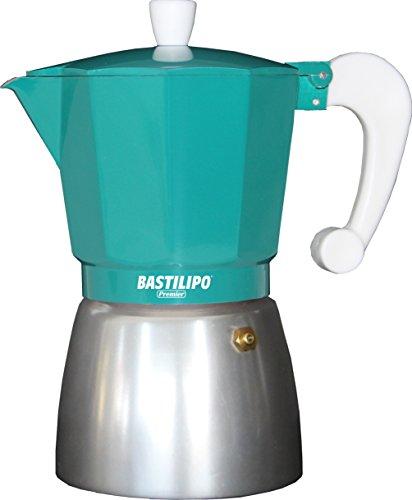 Bastilipo Colori-6 Cafetera, Aluminio, Esmeralda