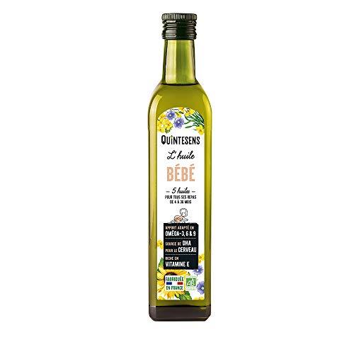 QUINTESENS - Huile Bébé - Mélange de 5 huiles bio - De 4 à 36 mois - 25 cl