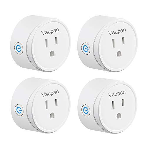 Vaupan - Enchufe inteligente, mini salida WiFi, funciona con Alexa, Google Home e IFTTT, control remoto inteligente con función de temporizador, no requiere concentrador,...