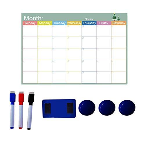 #N/a Calendario magnético de nevera de borrado en seco, calendario magnético de pizarra blanca para la decoración de la cocina del hogar de la pared del - Estilo 5