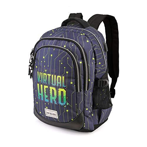 Karactermania Virtual Hero OMG-Running HS Backpack Rucksack, 44 cm, 21 liters, Mehrfarbig (Multicolour)