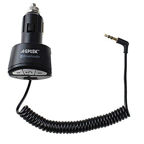 AGPtek USB coche cargador adaptador sin manos del Audio estéreo A2DP de...