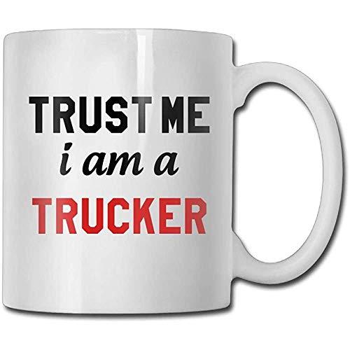 Vertrouw me, ik ben trucker koffiemok 11 ounces vader vrouw keramische cadeaus theekop een perfect cadeau voor familie en vrienden
