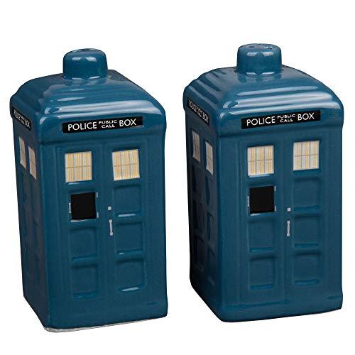 Doctor Who Tardis Salz- und Pfefferstreuer-Set, Keramik, Dr. Who Tardis Design