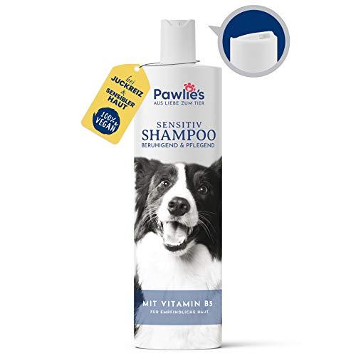 Pawlie's® Hunde-Shampoo gegen Juckreiz & Geruch, auch für Welpen - Vegane Fell-Pflege für Kurzhaar & Langhaar - Mittel gegen Milben & Flöhe - 250 ml
