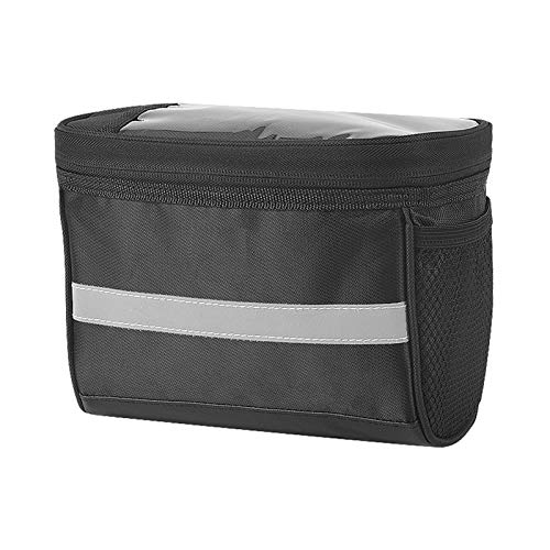 Bicycle Handlebar Bag, Bike Multi Function Touch Screen Bike Handlebar Bag, Bike Handlebar Bag with Reflective Strap, for Cycling Outdoor Activity