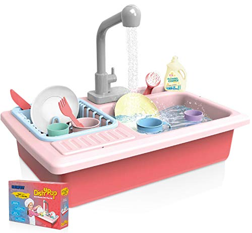 Smurfect Color Changing Kitchen Sink Toys - Fun & Educative Kids Toy- Water Cycling Kitchen Sink for Kids- Above 3 Years Toddler Toys- Easy to Install Play Kitchen Sink- Cute Kids Kitchen Sink