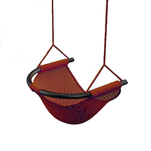 unknow MWPO Children's Swing, Snug Secure Fun Spider Web Tree Swing Adjustable Ropes Colorful Swings,Brown,Colour:Brown (Color : Brown)