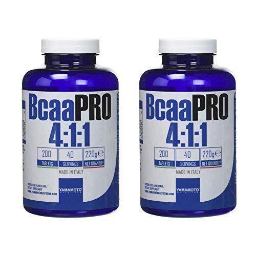 Yamamoto Nutrition Bcaa PRO 4:1:1 Kyowa Quality integratore alimentare di aminoacidi ramificati in rapporto 4:1:1 (400 compresse (2 Confezioni))