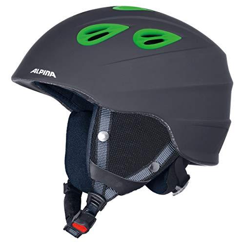 Alpina Sports Unisex– Erwachsene JUNTA 2.0 C Skihelm, Black matt Green, 57-61