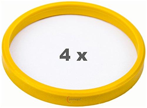 4 x pneugo! Bagues de centrage pour jantes alu 72.0 mm - 65.1 mm