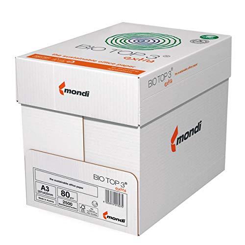 Drucker-/Kopierpapier Premium Bio Top 3: 80 g/m², DIN-A3, 5x500 Blatt, FSC, matt, weiß