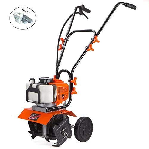 Best Price Eight24hours 1.75hp Lawn Garden Gas Cultivator Yard Tiller 10 43cc 2 stroke Soil Aerator