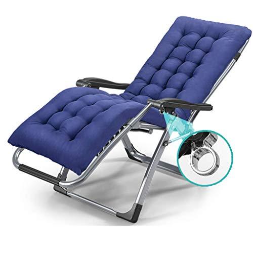 Household Necessities/klapstoel, inklapbaar, ligstoel, voor lunch, woonkamer, bureaustoel, strand, stoel voor zwangere vrouwen, dik grijs.