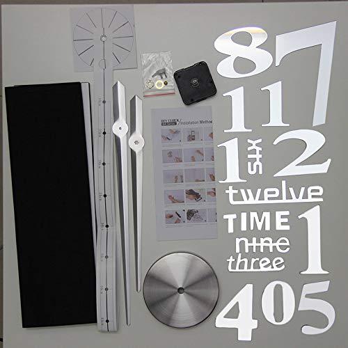 ukYukiko Super Big Size Home Creatieve DIY Klok Modieus Ontwerp Thuis Woonkamer Spiegel Gezicht Decoratieve Klok Sticker