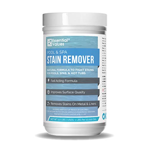 Swimming Pool & Spa Stain Remover (2 LBS) - Natural & Safe, Works Best for Vinyl Liners, Fiberglass, & Metals – Removes Rust & Other Tough Stains Without The Use of Harsh Chemicals