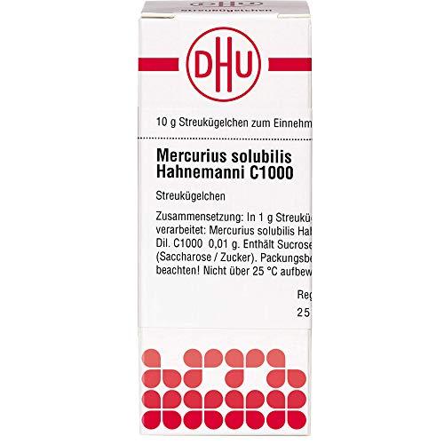DHU Mercurius solubilis Hahnemanni C1000 Streukügelchen, 10 g Globuli