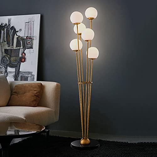 Lámpara De Pie Minimalista Nórdica Posmoderna para Sala De Estar Dormitorio Estudio Luz Lujo Creativo Habitación Lámpara Alta con Bombilla E27