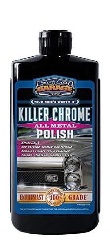 Killer Chrome All Metal Polish 16oz - Polishes & Cleans Aluminum, Chrome, Stainless Steel - Mirror...