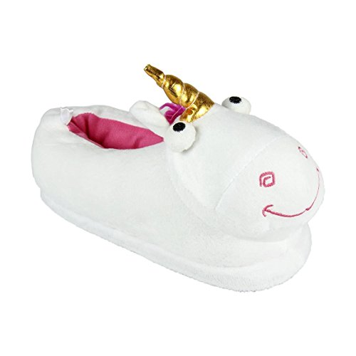 Minions - Zapatillas de Estar por casa, Pantuflas Unicornio, Color Blanco (26)