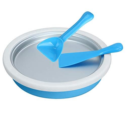 TANLEI Instant Ice Cream Maker,Ice Cream Maker Yogurt Frozen Pan Ice Roll Time Pan,Household Fried Ice Board Kids Ice Cream Machine (Blue)