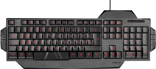 Speedlink Gamer Tastatur für PC / Computer - Rapax Gaming Keyboard USB (Kompakte Bauform - Gekennzeichnete Gamingtasten ) schwarz (Zertifiziert und Generalüberholt)