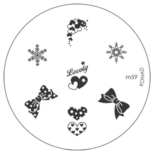 Konad Stamping Image Plate for Nail Art M59