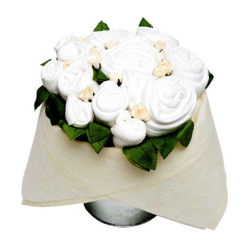 Seau de fleur – Blanc classique