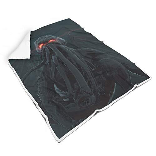 Mentmate Store Cthulhu - Manta universal portátil, diseño retro, apta para sofá, para mujeres/hombres, regalo blanco, 150 x 200 cm