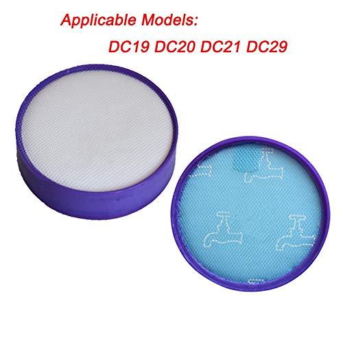 Sin FMN-HOME, 2 piezas de repuesto de filtro HEPA lavable premotor para Dyson DC19 DC19 T2 DC21 DC29 Filtro 917819-0