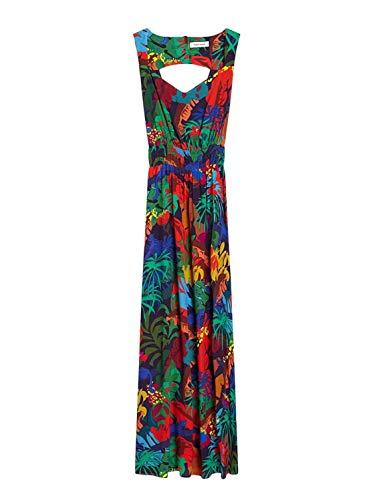 Naf Naf Vestido Multicolor Largo para Mujer
