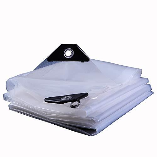 LJFPB Abdeckplane Gewebeplane Transparente Plastikplanen Gummiert Verdickung und Winddicht 100% wasserdicht Geeignet für Gewächshausgärten Schwimmbadabdeckung 120 g (Farbe : Weiß, größe : 2x3m)