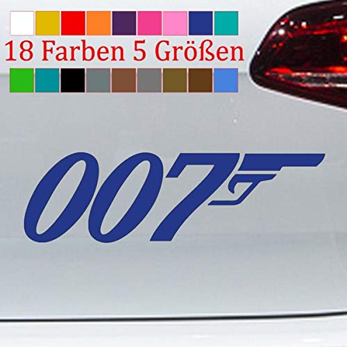 Generisch 007 Sticker Agent James Bond 007 GoldenEye Dr. No Goldfinger S-XXL