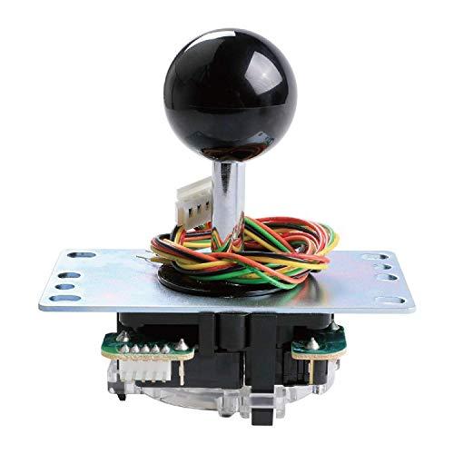 Sanwa Denshi Japan JLF-TP-8YTFAST SHIPPING Black Ball Top Handle Arcade Joystick Part 4 & 8 Way Adjustable - Hori Fight Stick Repair Part - Mad catz SF4 Tournament Joystick Compatible