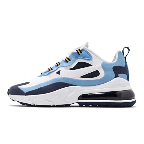 Nike Air MAX 270 React Men's Shoe, Zapatillas para Correr Hombre, White/White/Midnight Navy, 47 EU