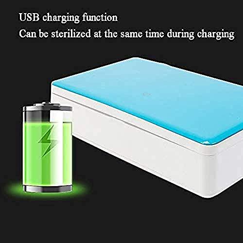 Uv-smartphone desinfectiebox met uv-lamp, draagbare sterilisatie-desinfectiebox voor mobiele telefoons, maskers en autosleutels, sieradenpotjes, kammen en armbanden