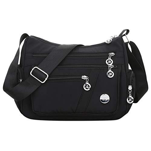 Luckycat Mujer de Bolsos de Moda Impermeable Mochilas Bolsas de Viaje Bolso Bandolera Sport Messenger Bag Bolsos Baratos Mano para Tablet Escolares Nylon