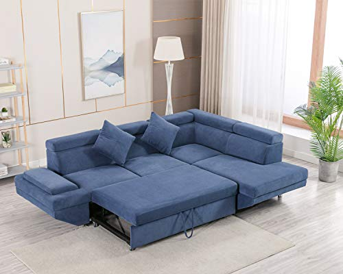 Sofa Bed Sectional Sofa Futon Sofa Bed Sleeper Sofa for Living Room Furniture Set Modern Sofa Set Corner Sofa Upholstered Contemporary Fabric