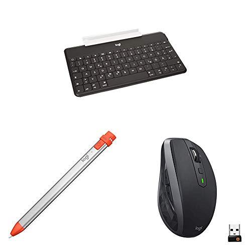Logitech Keys-To-Go Ultra-portable Tastatur + 914-000034 digitale Zeichenstift + MX Anywhere 2S kabellose Maus